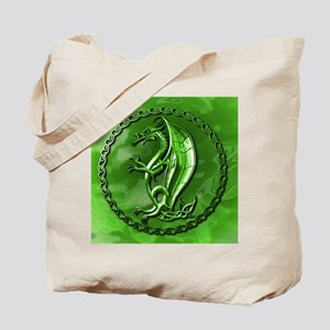 GreenCelticDragonMousepad Tote Bag