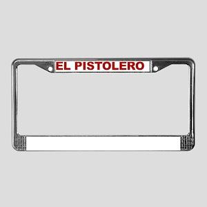 ELPISTOLEROred License Plate Frame