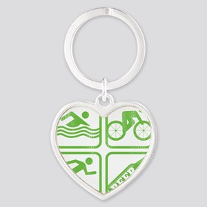 swimbikerunBeer Heart Keychain