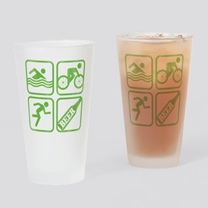 swimbikerunBeer Drinking Glass