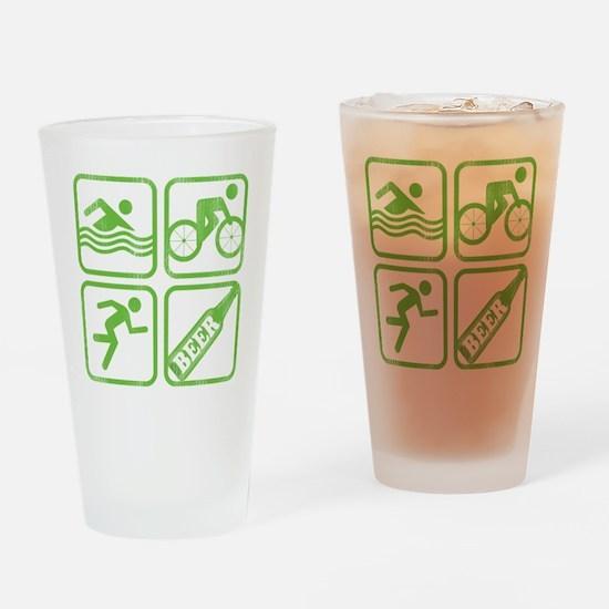 swimbikerunBeer Drinking Glass