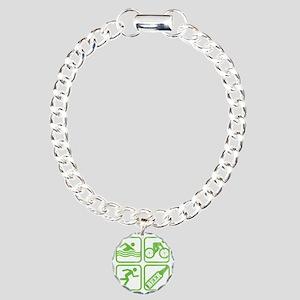 swimbikerunBeer Charm Bracelet, One Charm