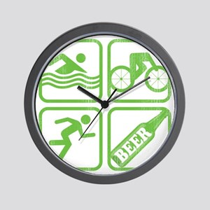 swimbikerunBeer Wall Clock