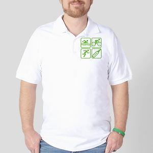 swimbikerunBeer Golf Shirt
