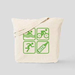 swimbikerunBeer Tote Bag