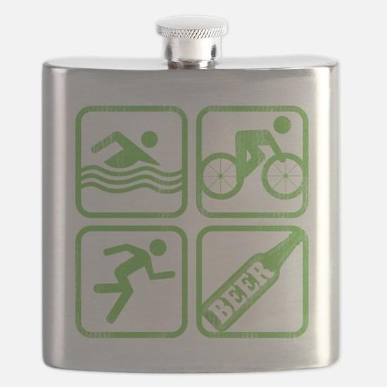 swimbikerunBeer Flask