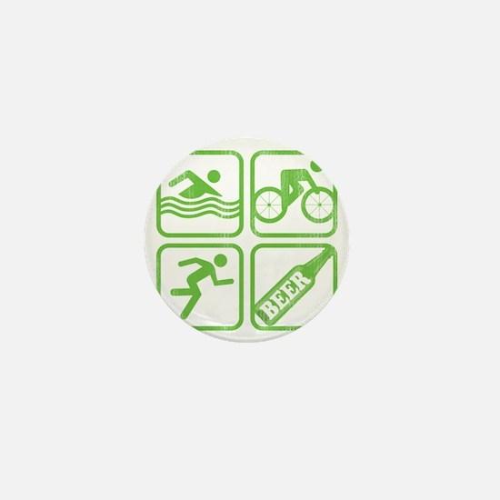 swimbikerunBeer Mini Button