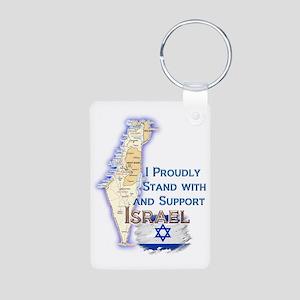 Israel deuteronomySUPOORT  Aluminum Photo Keychain