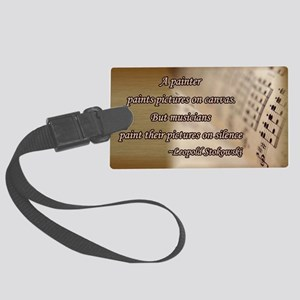 music_book Large Luggage Tag