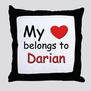 My heart belongs to darian Throw Pillow