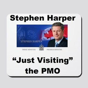 Copy of just visiting PMO small Mousepad