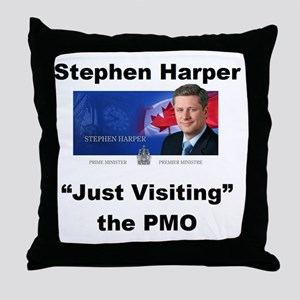 Copy of just visiting PMO small Throw Pillow