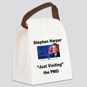 Copy of just visiting PMO small Canvas Lunch Bag