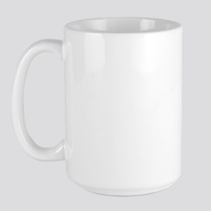 no free man-white_text Large Mug