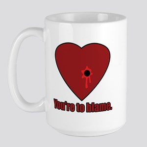 Shot Through the Heart Large Mug