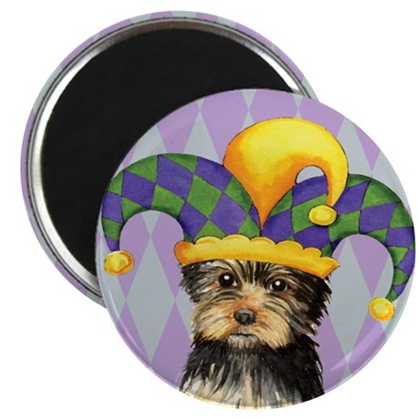 Party Yorkie Magnet