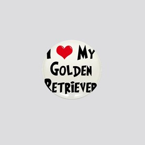 I-Love-My-Golden-Retriever Mini Button