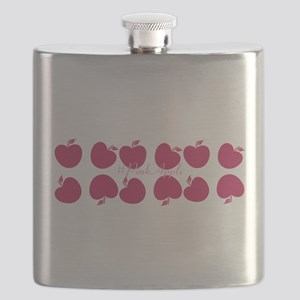 Bright Pink Apples Flask
