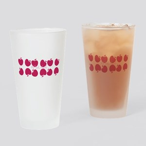 Bright Pink Apples Drinking Glass