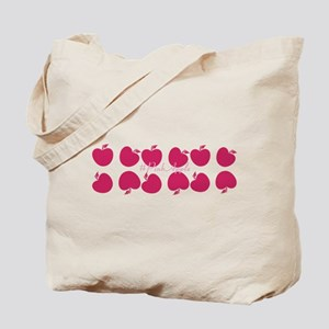 Bright Pink Apples Tote Bag
