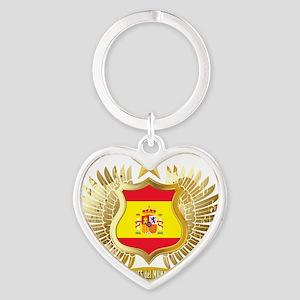 2010 spain champions aaa Heart Keychain