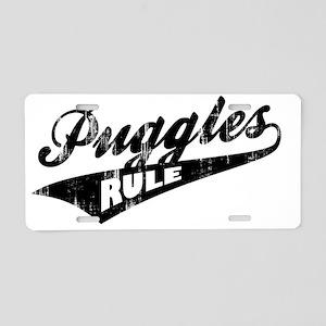Puggles-Rule-Ballpark-Style Aluminum License Plate