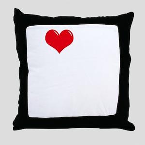 I-Love-My-Puggle-dark Throw Pillow