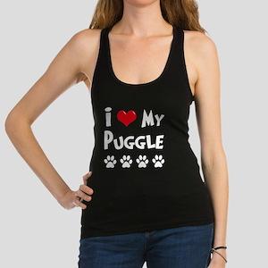 I-Love-My-Puggle-dark Racerback Tank Top