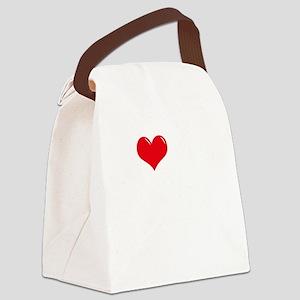 I-Love-My-Puggle-dark Canvas Lunch Bag