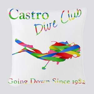 Dive Club 2 Woven Throw Pillow