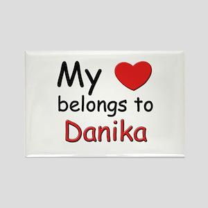 My heart belongs to danika Rectangle Magnet