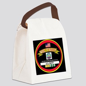 CVA31BLACKTSHIRT Canvas Lunch Bag