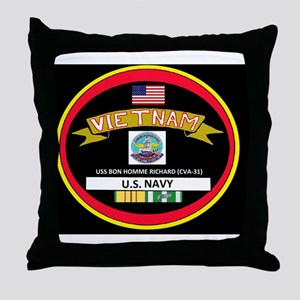 CVA31BLACKTSHIRT Throw Pillow