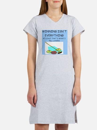 i love curling Women's Nightshirt