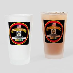 CVA34BLACKTSHIRT Drinking Glass