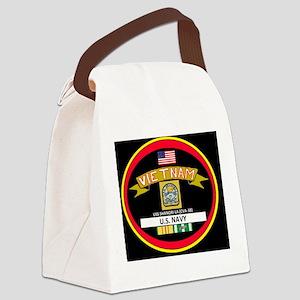 CVA38BLACKTSHIRT Canvas Lunch Bag