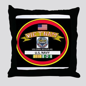 CVA43BLACKTSHIRT Throw Pillow