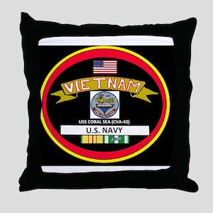 CVA43BLACKTSHIRT Throw Pillow