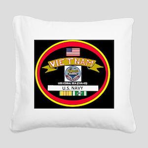 CVA43BLACKTSHIRT Square Canvas Pillow