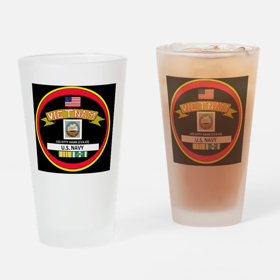 CVA63BLACKTSHIRT Drinking Glass