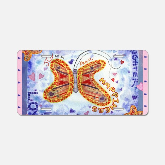 new butterfly 5x3 sticker Aluminum License Plate