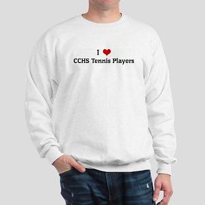 I Love CCHS Tennis Players Sweatshirt