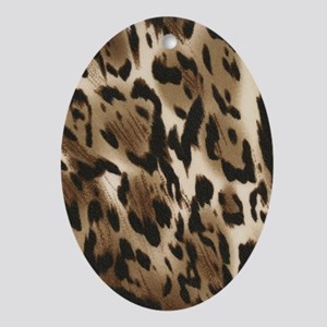 Animal Print Journal Oval Ornament