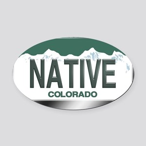 colorado_licenseplates-native3 Oval Car Magnet