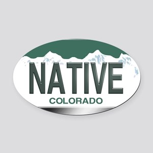 colorado_licenseplates-native2 Oval Car Magnet