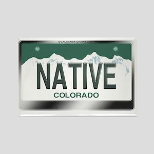 colorado_licenseplates-native2 Rectangle Magnet