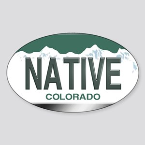 colorado_licenseplates-native2 Sticker (Oval)