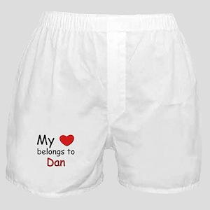 My heart belongs to dan Boxer Shorts