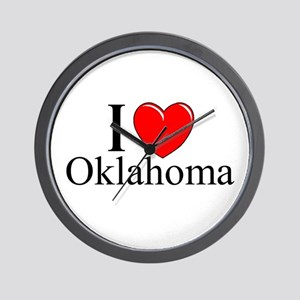 """I Love Oklahoma"" Wall Clock"