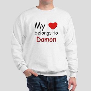 My heart belongs to damon Sweatshirt